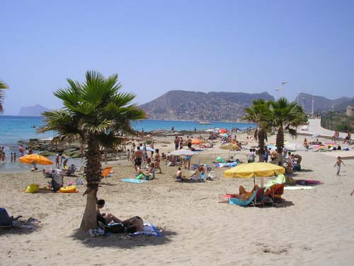Calpe Pictures - One of Calpe's Beaches