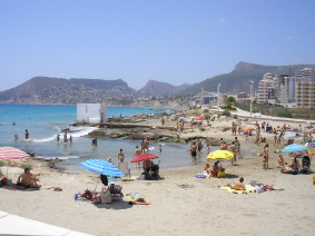 Calpe Photos - Another View of a Calpe Beach